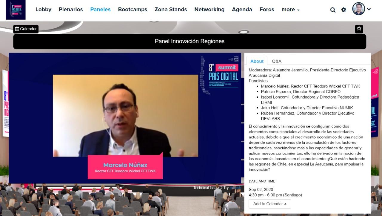 Araucanía Digital representó con éxito a la Región en octava Summit país digital con panel sobre innovación en la educación