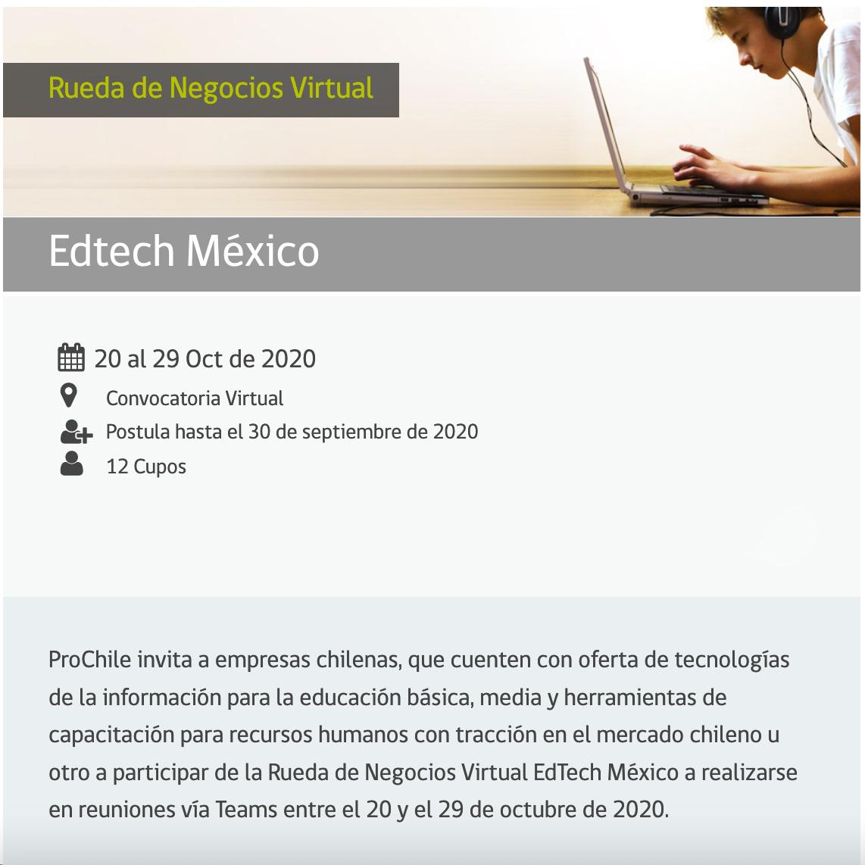 Rueda de Negocios Virtual - Edtech México
